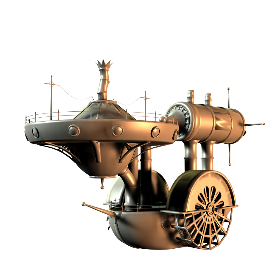 SteamPunk Boat by mysticmorning