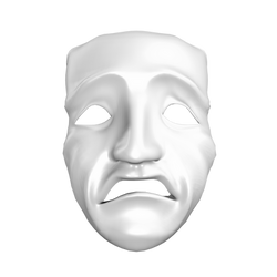 Sad Mask by mysticmorning