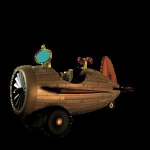 SteamPunk Plane 2 png