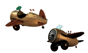 SteamPunk Airplane 3