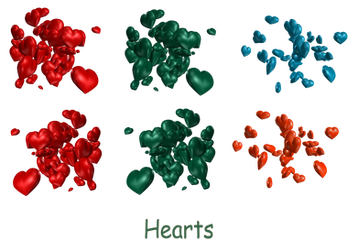 Cluster of Hearts png by mysticmorning