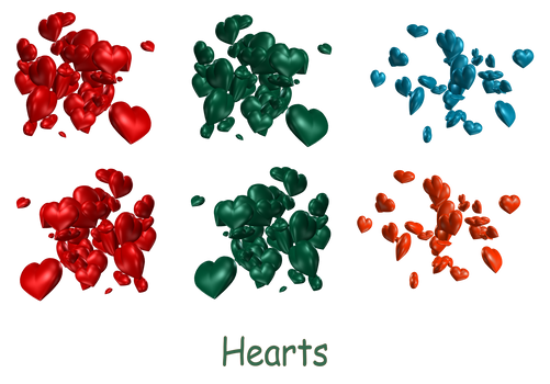 Cluster of Hearts png