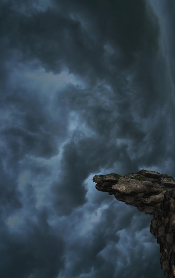 Cliff Background by mysticmorning