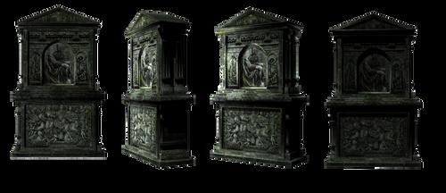 Tomb Stone set1 by mysticmorning