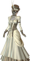 Victorian Zombie png by mysticmorning