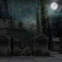 Graveyard at Night stock by mysticmorning