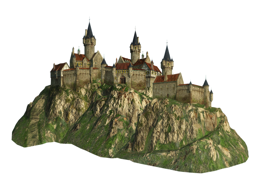Castle on a Mountain png by mysticmorning
