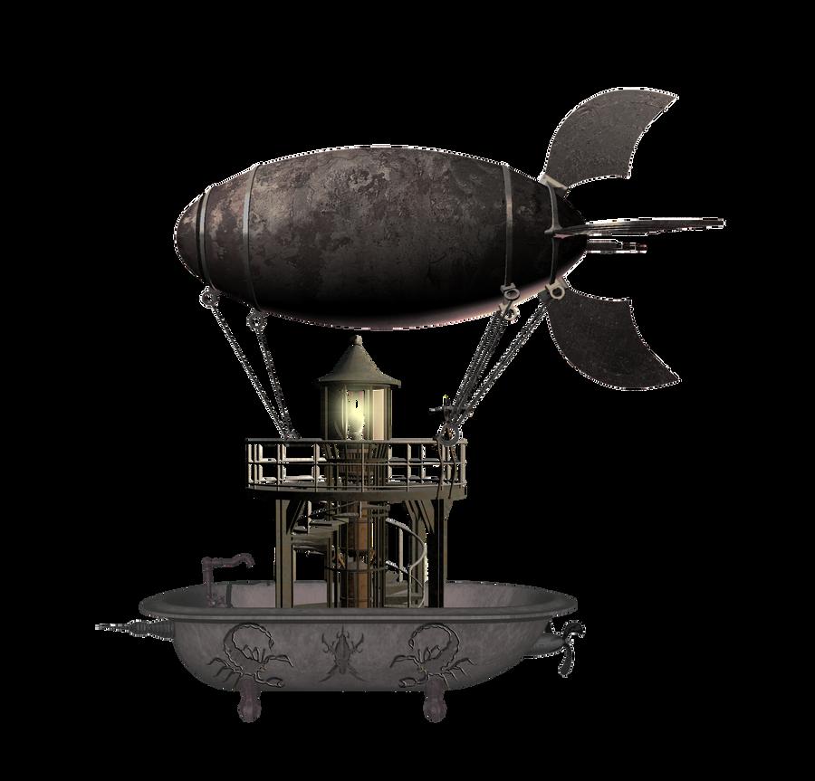 SteamPunk Flying Bathtub