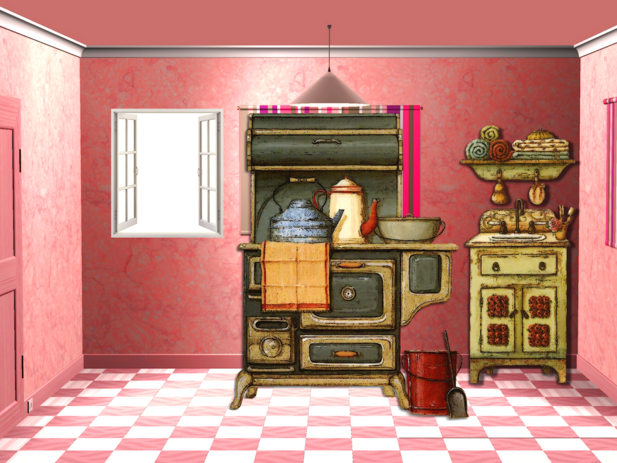 Old Country Kitchen png by mysticmorning on DeviantArt