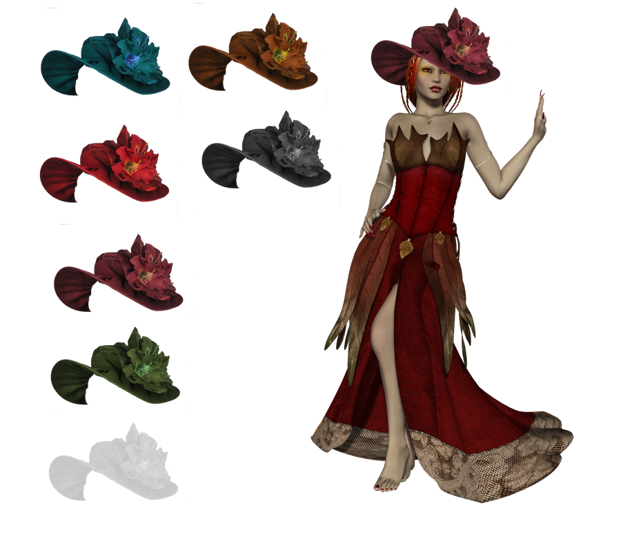 Women Hat set png by mysticmorning