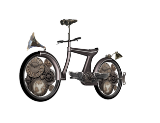 Steampunk Bike png by mysticmorning