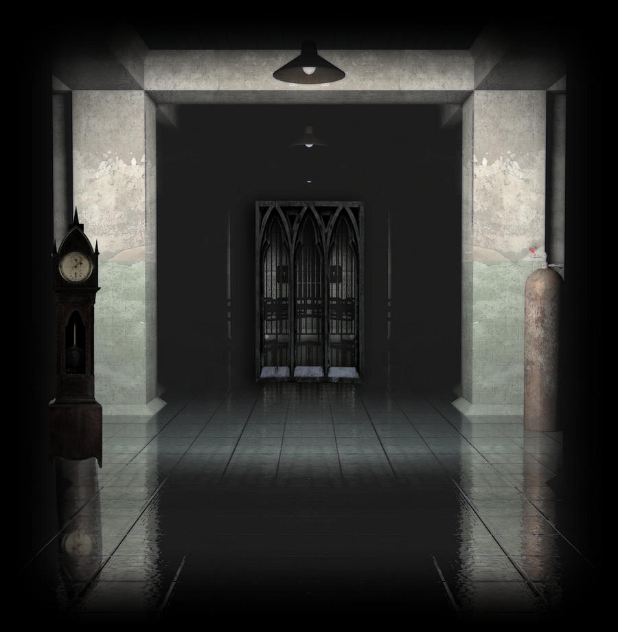 Dark HallWay Background by mysticmorning
