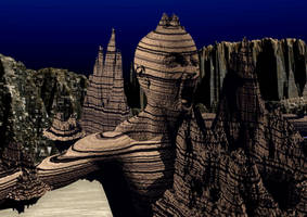 SCI-FI Mountain bckg by mysticmorning
