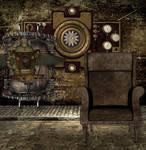 Steampunk Gothic Bckg