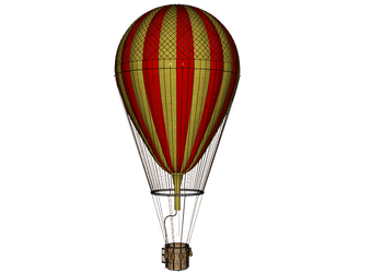Hot Air Balloon png by mysticmorning