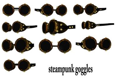 Steampunk Goggles png by mysticmorning