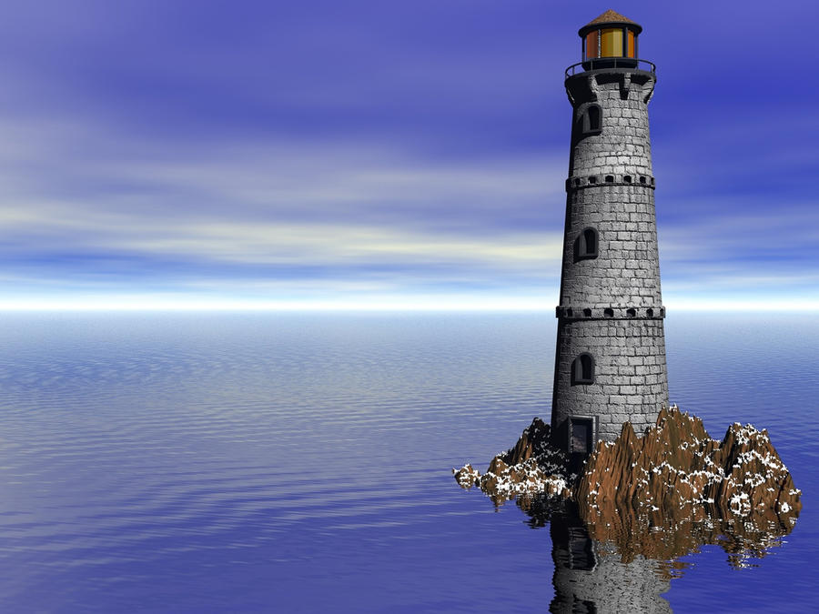 Lighthouse stock by mysticmorning