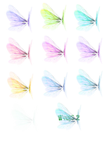 Wing Set 2 png by mysticmorning