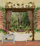 Bathroom Background stock