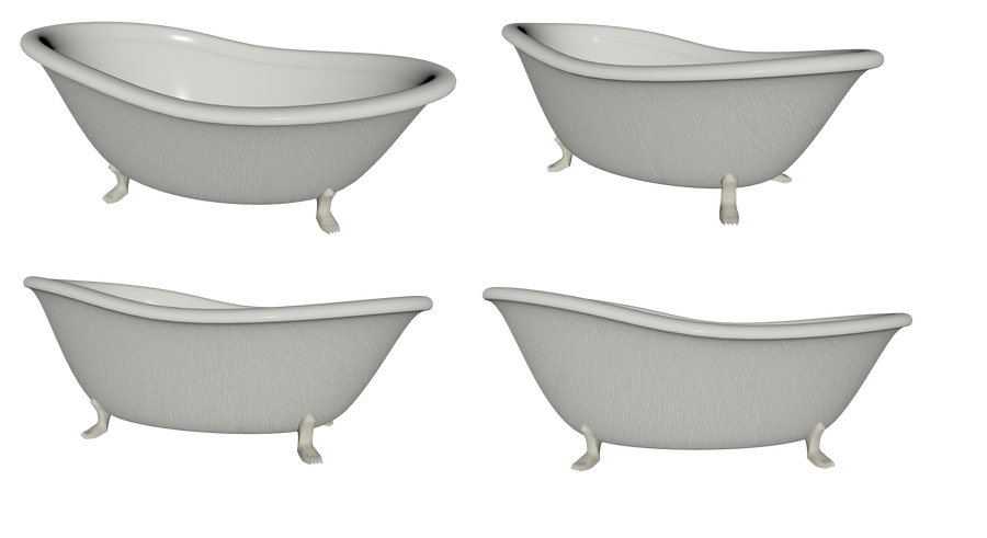Bathtub Set png by mysticmorning on DeviantArt