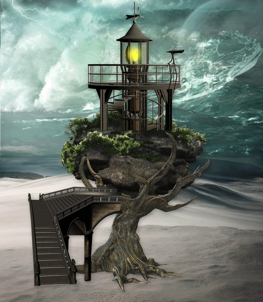 Surreal Lighthouse by seccy on DeviantArt