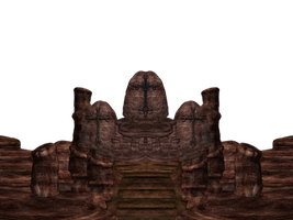 Rock Throne png by mysticmorning