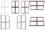 Baywindows and Window png Rendered
