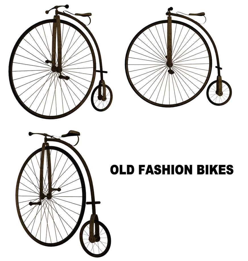 Vintage Bike Set by mysticmorning