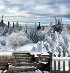 Winter Painting Background
