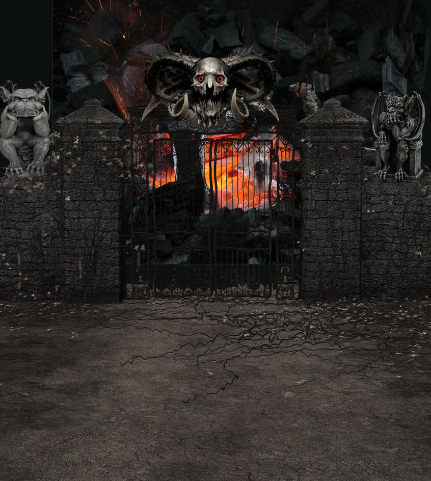 Gate to hell background by mysticmorning on deviantart gate to hell background by mysticmorning voltagebd Choice Image
