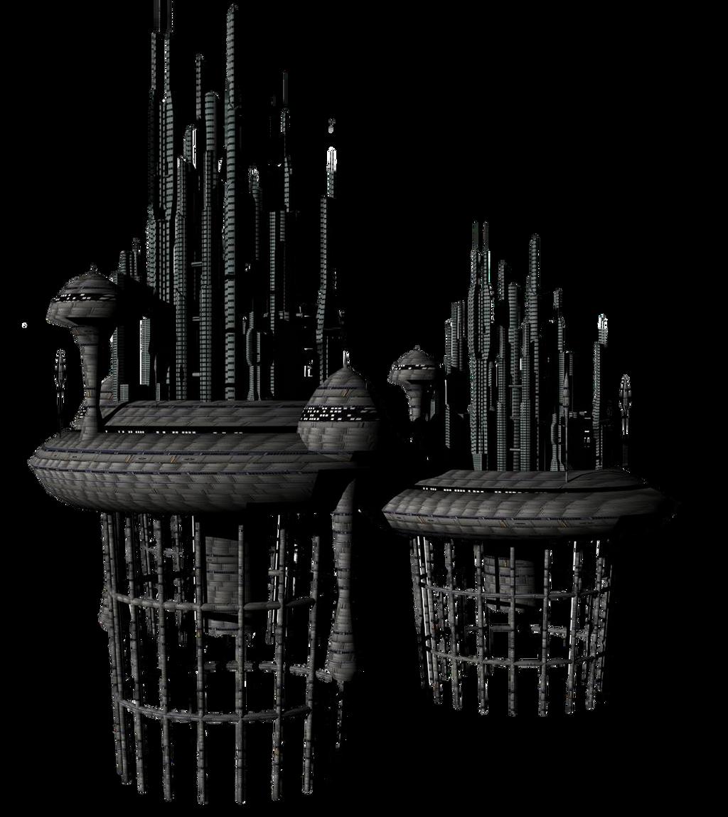 Sci Fi Fantasy Building 2