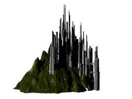 City Sci fi png by mysticmorning