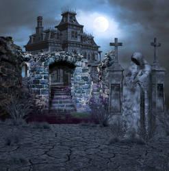 Dark Evil Graveyard by mysticmorning