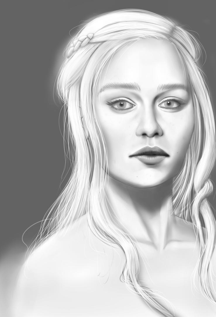 Daenerys Targaryen Potrait by Senluc