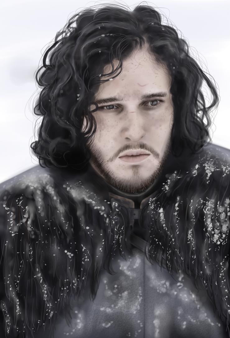 Jon Snow potrait by Senluc