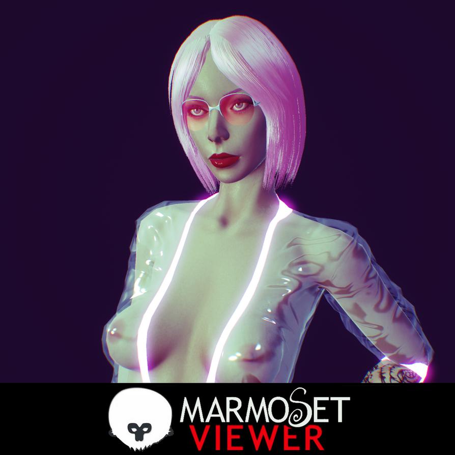 Sci-fi Punk girl by Senluc