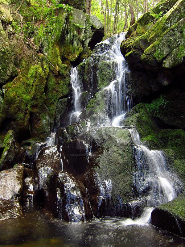 Goldmine Brook Falls by ashleymphoto