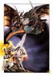 Melkor and Fingolfin by Gildhartt