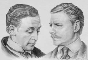 Sherlock Holmes and Dr. Watson by Gildhartt