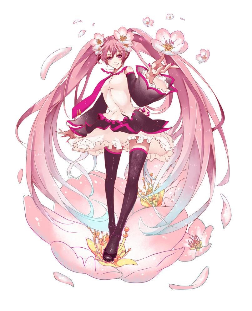 Sakura Miku by Nanatsuki-Jinko