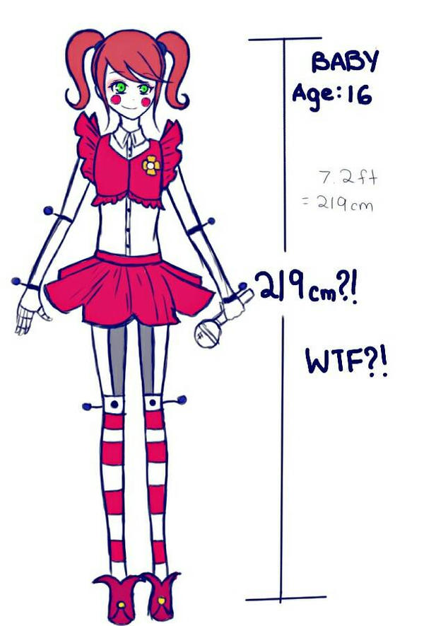 Fnaf Sl Baby S Height By Xiaoxruu On Deviantart