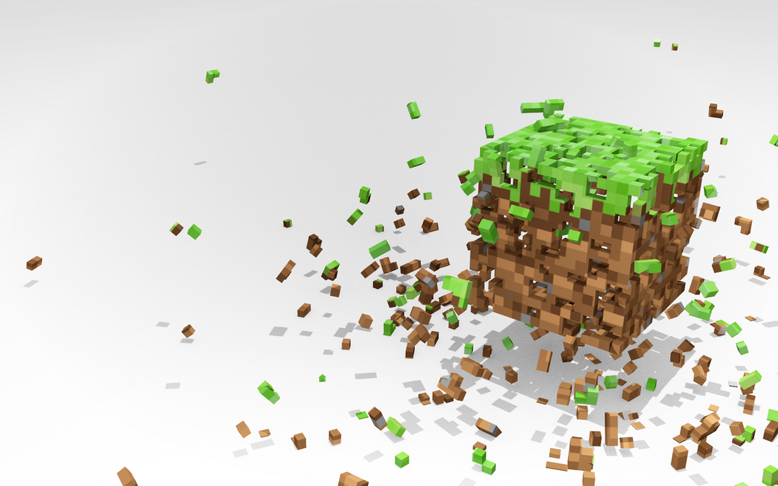 Dissolving Minecraft by JohnTuley