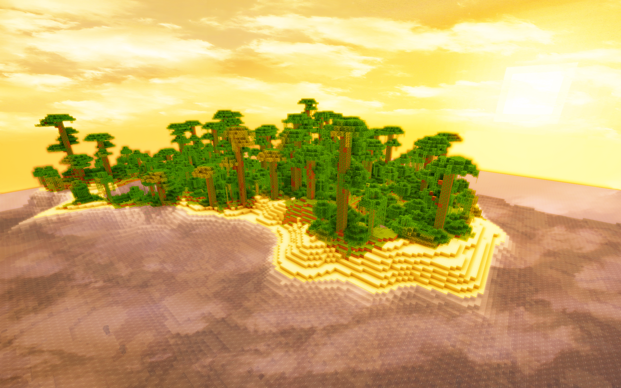 Minecraft Jungle Island by JohnTuley