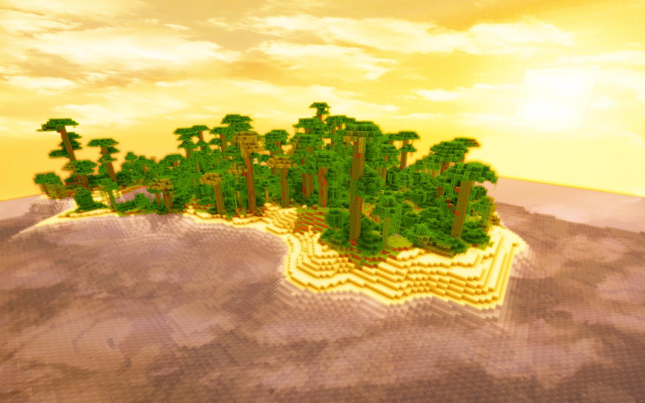 Minecraft Jungle Island by JohnTuley