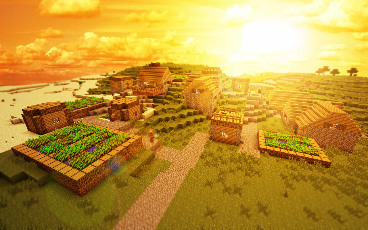Minecraft - Village by JohnTuley