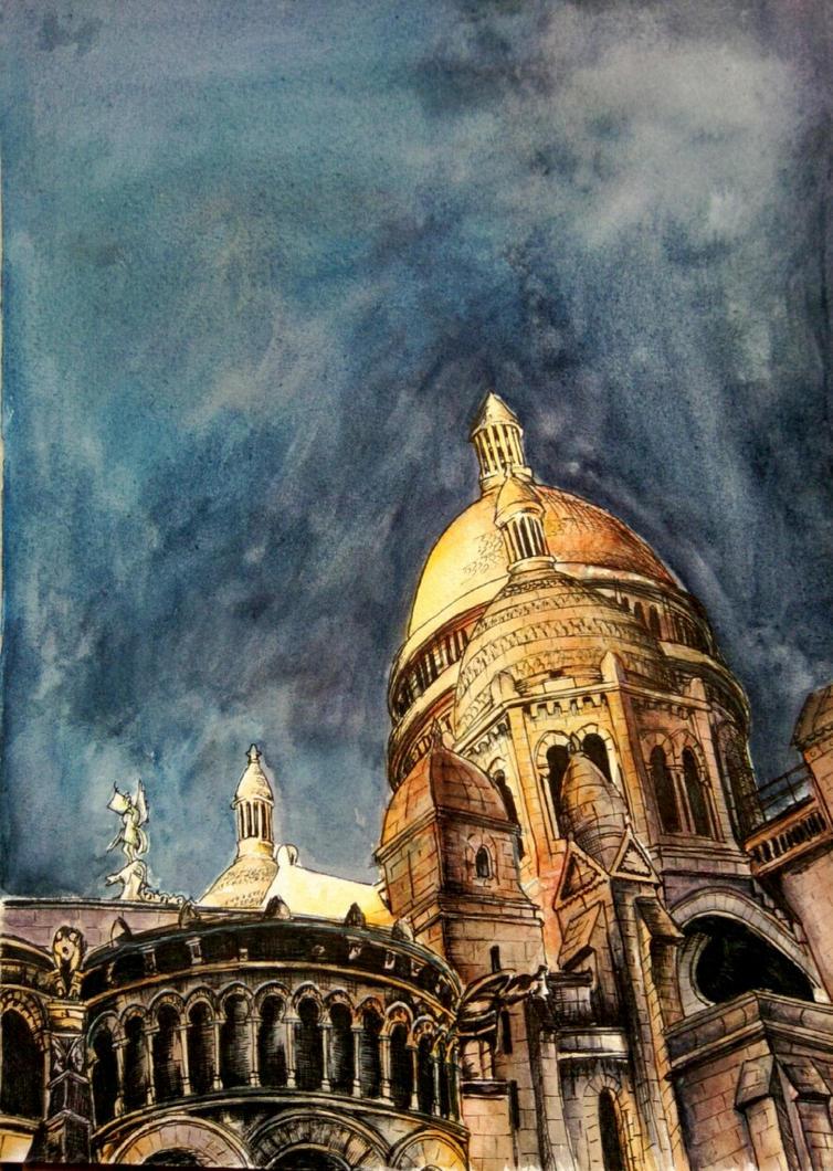 Art Final Piece: Sacre Coeur by betcchi