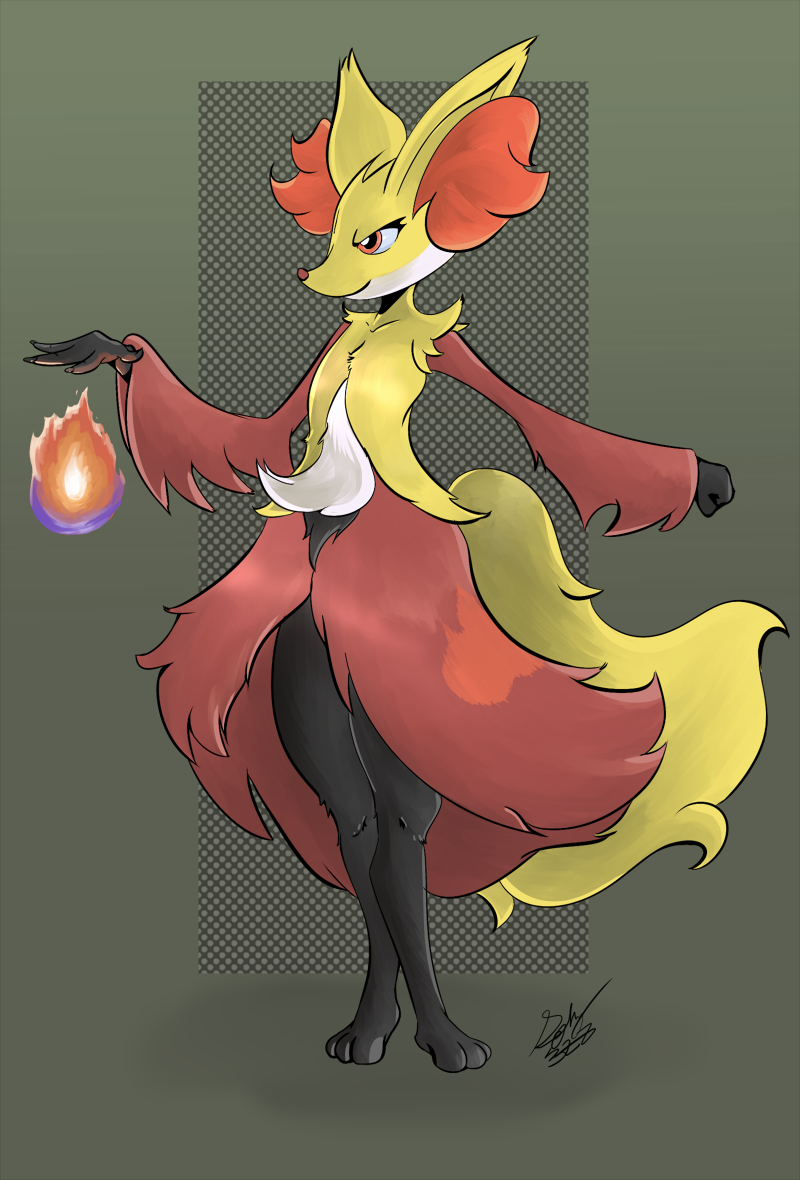 Delphox by Squiby-327