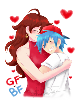 Girlfriend and Boyfriend Hugs (FNF)
