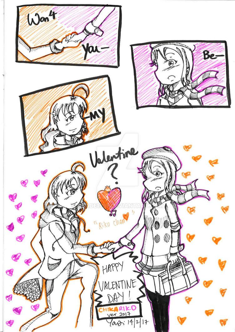 [ChikaRiko] Won't You Be My Valentine? by shade1995