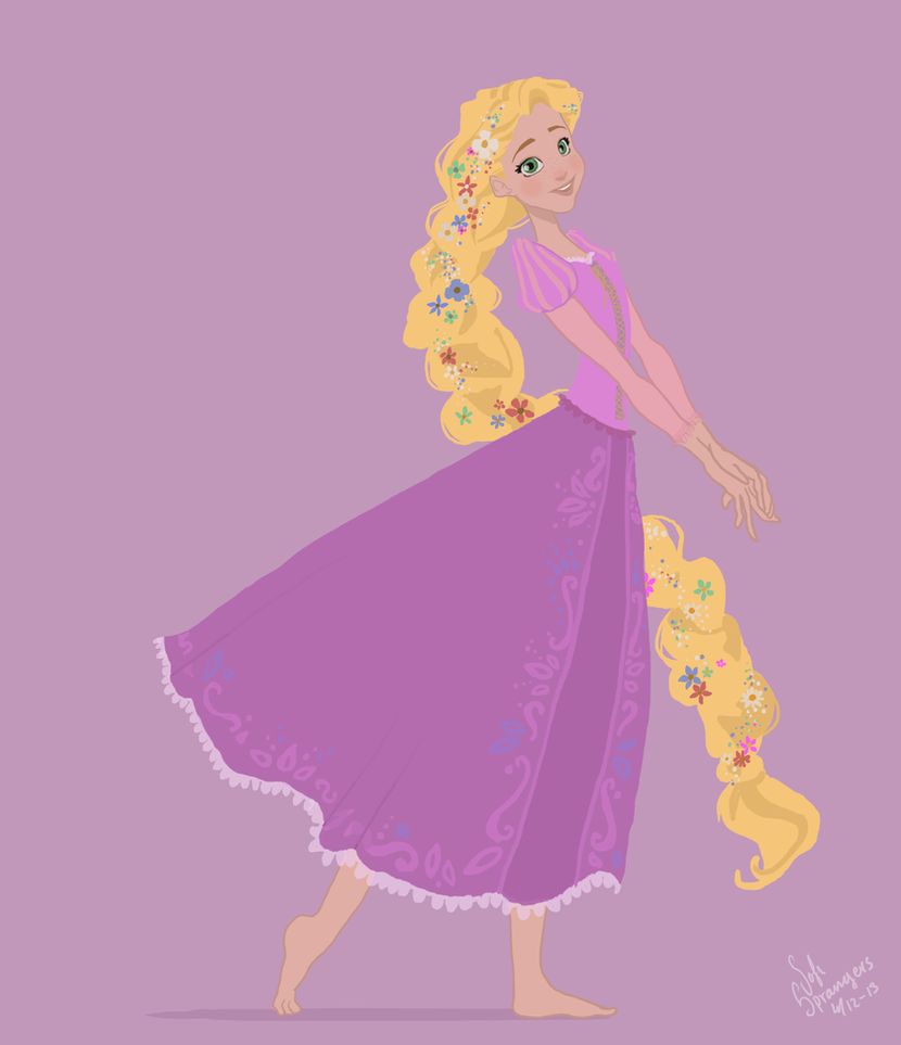 Disney Tangled Silhouette Disney Tangled by Sofibs
